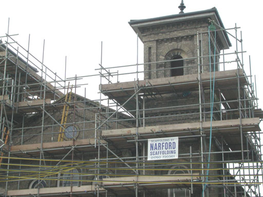 Independent scaffolding - Swaffham Baptist Church