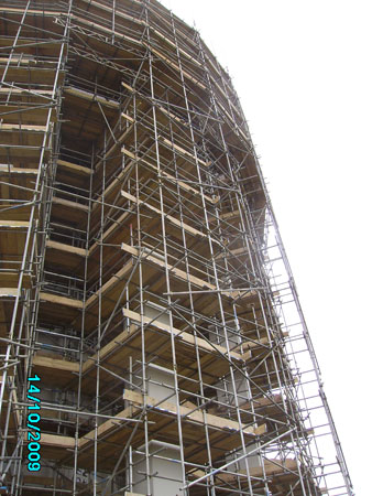 Scaffolding at Horsley Water Tower