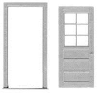 6 Light Door