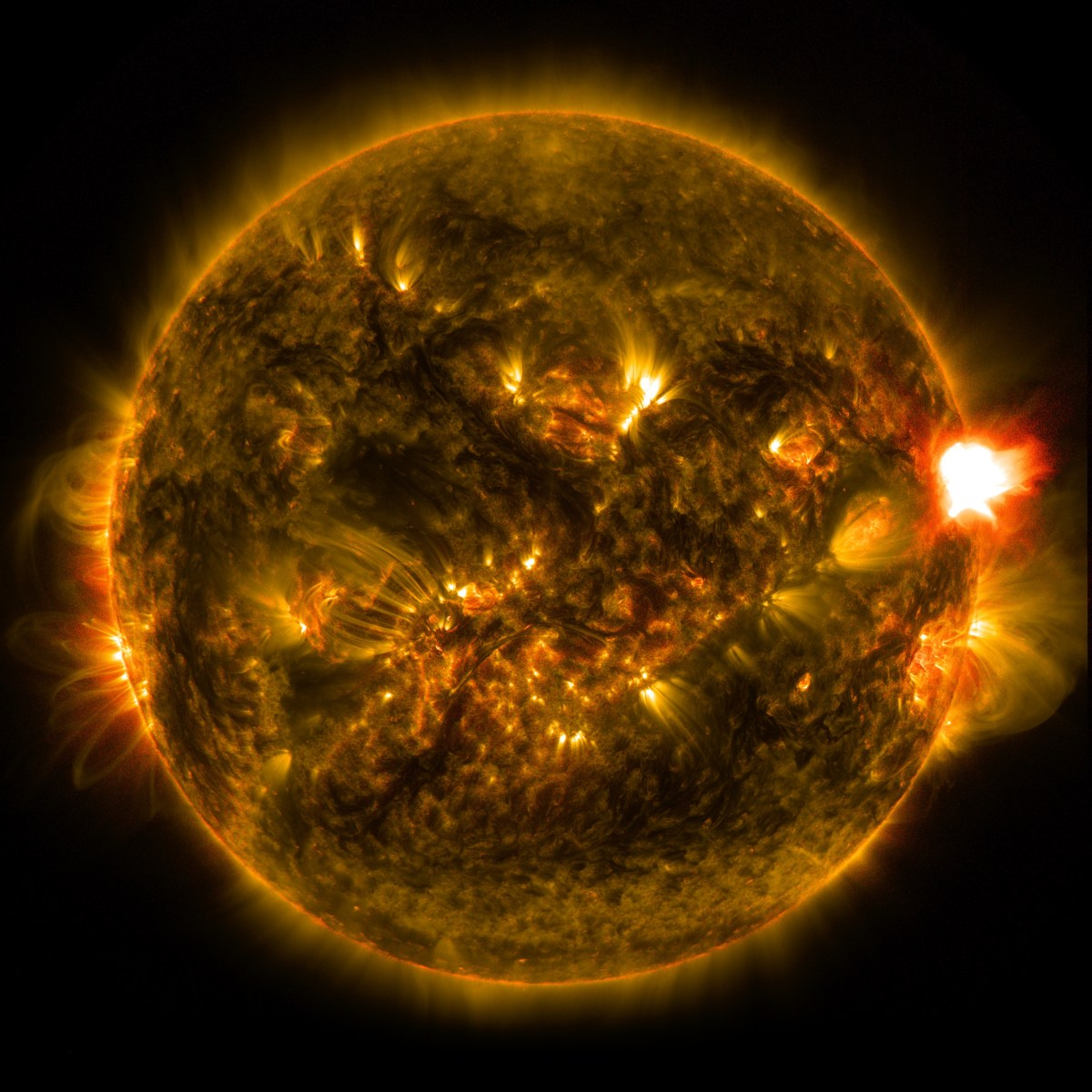 Sun's Swirling Flares