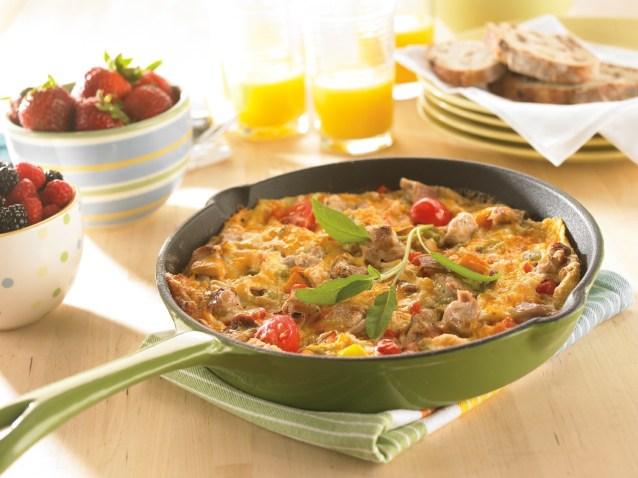 Фритата-омлет с овощами и с сыром