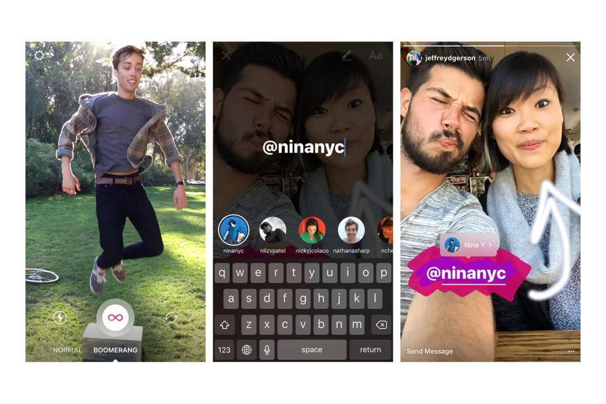 How To Add Boomerang Clips, Links And Mentions To Instagram Stories