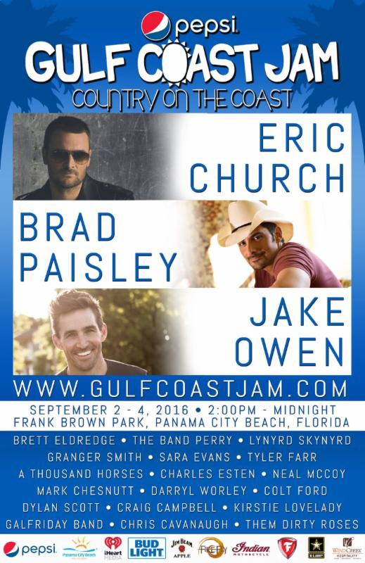 PEPSI GULF COAST JAM OFFERS MILITARY DISCOUNT