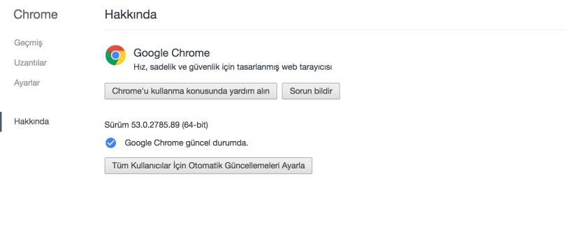Google Chrome Güncellemesi Nasıl Yapılır ?