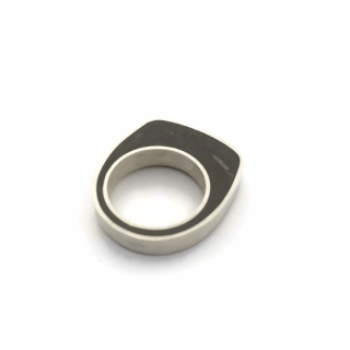 Concrete silver ring