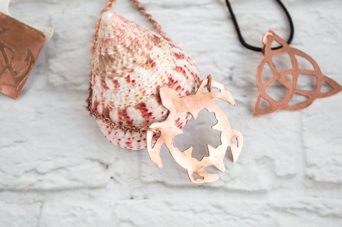 cleaned copper jewelry