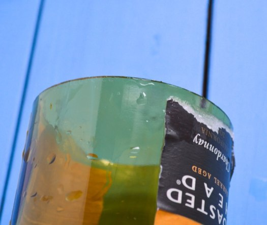 clean cut glass bottle