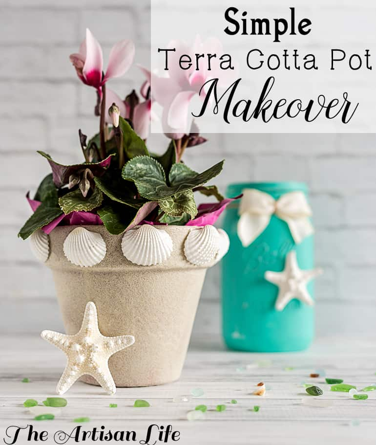 Simple Terra Cotta Pot Makeover
