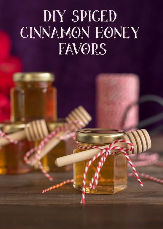 DIY spiced cinnamon honey favors