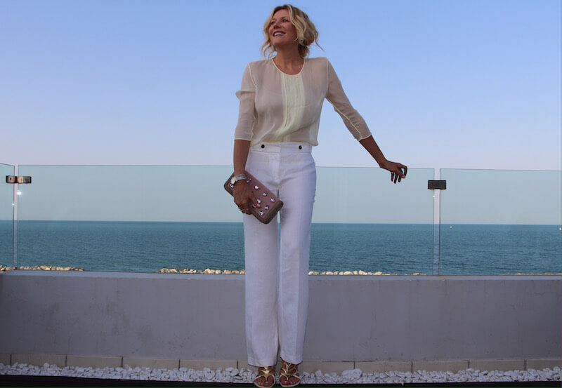 белые штаны - модные нюансы