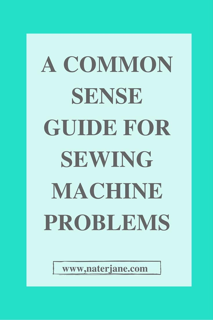 Having problems with your sewing machine. I can help. Click thought to get your common sense guide for sewing machine problems.