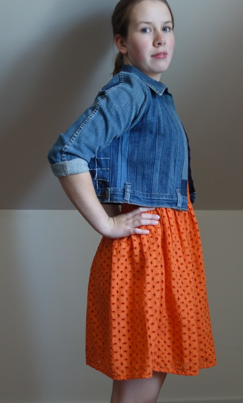 Refashioned jean jacket. Made by naterjane. click thought to see more of her projects.