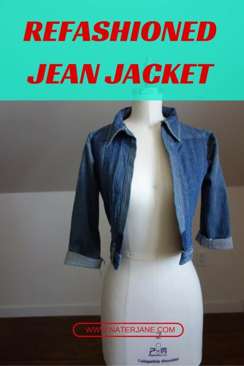 A Jean Jacket Sewn Entirely Out Of Old Jeans.