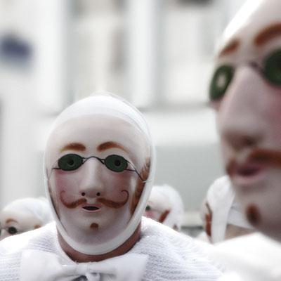 Gille de Binche masqué