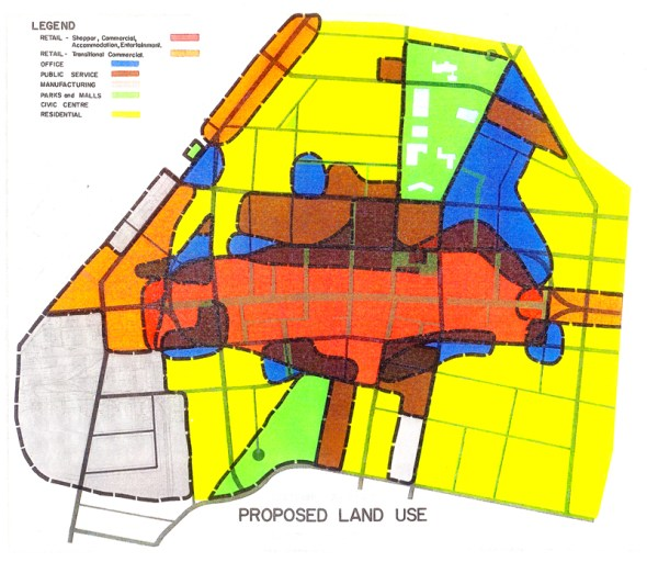 Land-Use Chart for Downtown Kitchener