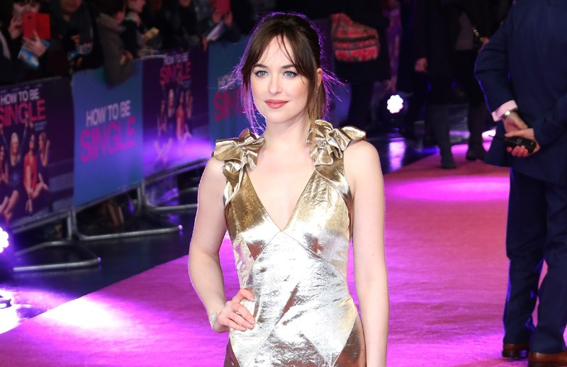 How To Be Single - European film premiere, Leicester Square, London UK  Pictured: Dakota Johnson Ref: SPL1221720  090216   Picture by: WUF / Splash News  Splash News and Pictures Los Angeles:	310-821-2666 New York:	212-619-2666 London:	870-934-2666 photodesk@splashnews.com
