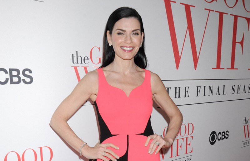 "Cast arrives for ""THE GOOD WIFE"" Series Finale Party, held at the Museum of Modern Art (""MoMA"") in NYC  Pictured: Julianna Margulies Ref: SPL1271592  280416   Picture by: Johns PKI / Splash News  Splash News and Pictures Los Angeles:	310-821-2666 New York:	212-619-2666 London:	870-934-2666 photodesk@splashnews.com"