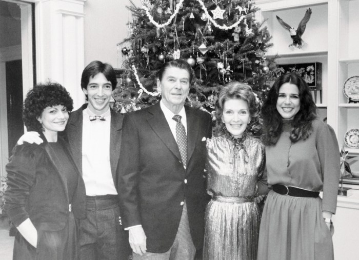 Ronald Reagan with Wife and Family