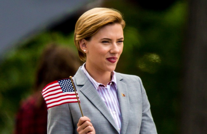 Scarlett Johansson seen filming 'Rock That Body' in Upstate New York.  Pictured: Scarlett Johansson Ref: SPL1359933  270916   Picture by: Allan Bregg / Splash News  Splash News and Pictures Los Angeles:	310-821-2666 New York:	212-619-2666 London:	870-934-2666 photodesk@splashnews.com