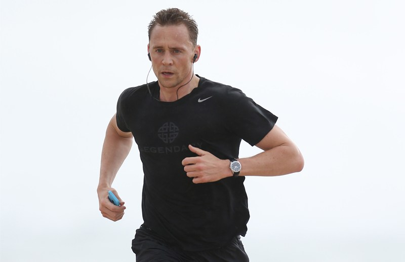 Tim Hiddleston goes for a morning run along the beach on the Gold Coast. Tom was seen running along the beach in the rain during his morning run on the Gold Coast  Pictured: Tim Hiddleston Ref: SPL1320412  180716   Picture by: Splash News  Splash News and Pictures Los Angeles:	310-821-2666 New York:	212-619-2666 London:	870-934-2666 photodesk@splashnews.com