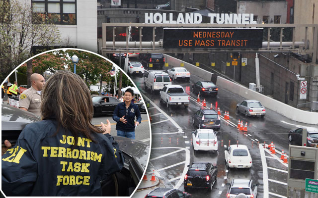holland tunnel arrests weapons terrorism fears