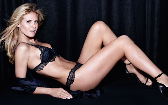 heidi klum lingerie model hottest photos