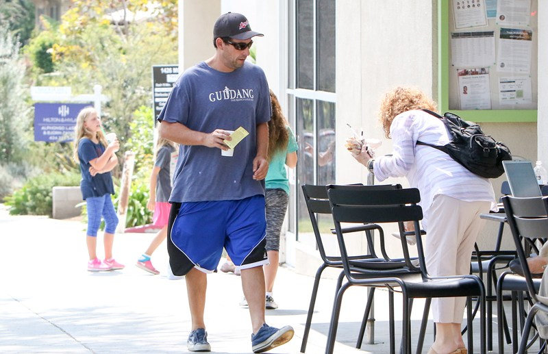 Adam Sandler is seen in Los Angeles, California.  Pictured: Adam Sandler Ref: SPL1340592  250816   Picture by: BG004/Bauergriffin.com