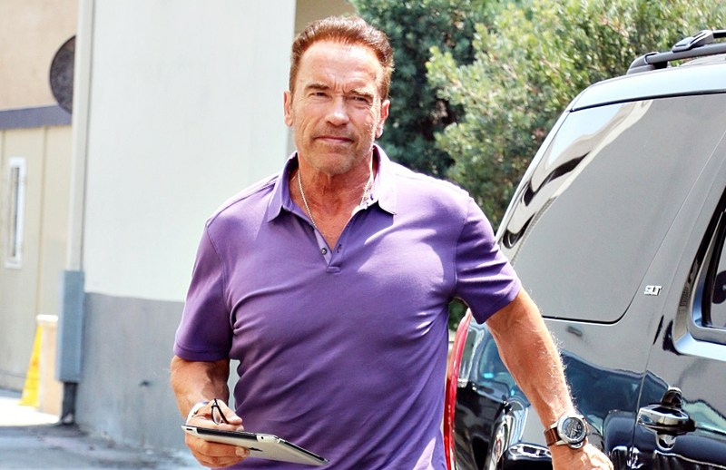 EXCLUSIVE: Arnold Schwarzenegger seen going to meeting for new gig Celebrity Apprentice  Pictured: Arnold Schwarzenegger Ref: SPL1340018  250816   EXCLUSIVE Picture by: KAT / Splash News  Splash News and Pictures Los Angeles:	310-821-2666 New York:	212-619-2666 London:	870-934-2666 photodesk@splashnews.com