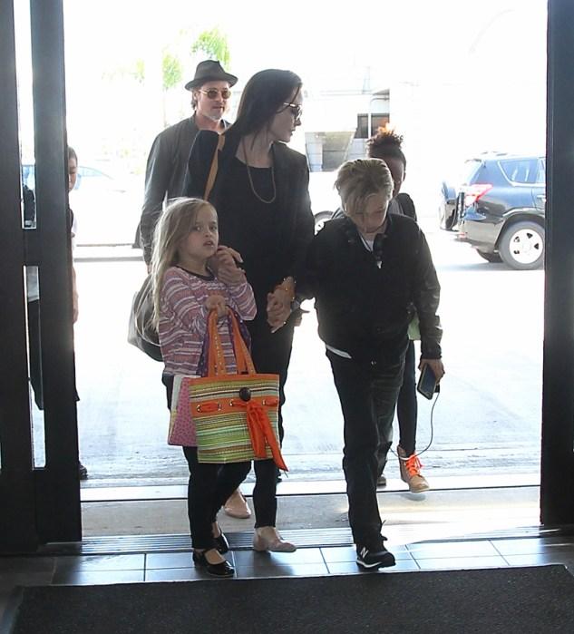 INF – Brad Pitt and Angelina Jolie Depart LAX