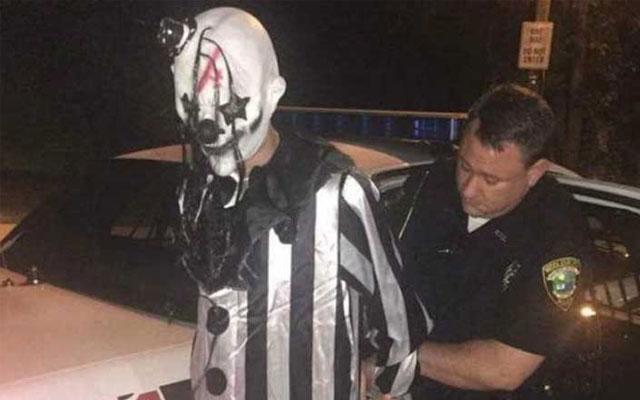 creepy clown attacks F