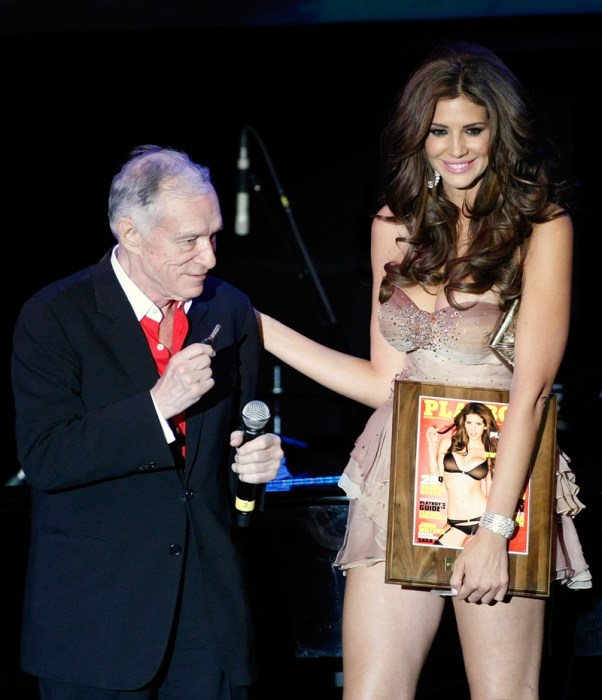 Hugh Hefner Introduces 2010 Playboy Playmate Of The Year Hope Dworaczyk