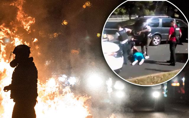 north carolina police shooting riots keith l. scott video