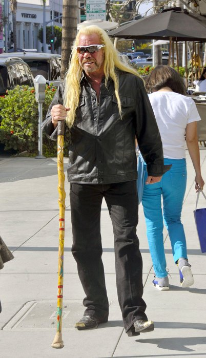 'Dog the Bounty Hunter' Duane Chapman walks with a cane in Beverly Hills