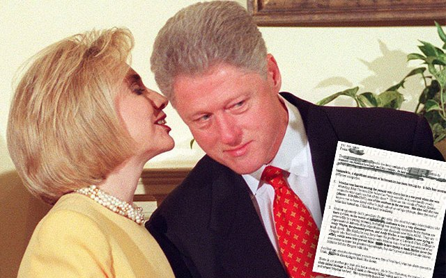 hillary clinton monica lewinsky smear campaign memo national enquirer
