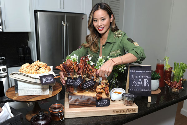 Jamie Chung Celebrates With Her DIY Smithfield Bacon Bar