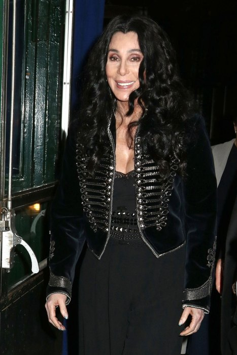 Cher is spotted leaving a fundraising event for Hillary Clinton in New York City
