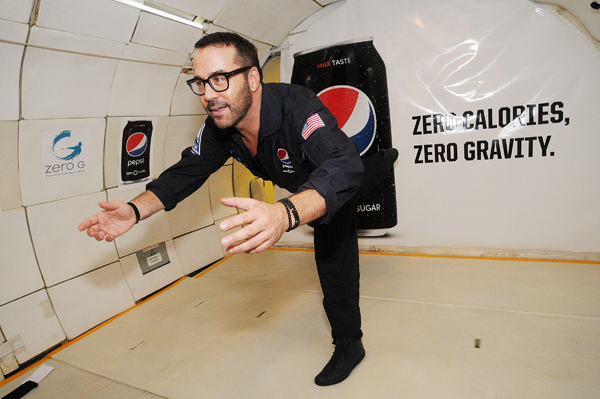 Pepsi Zero Sugar Flies Fans On Zero-G Plane
