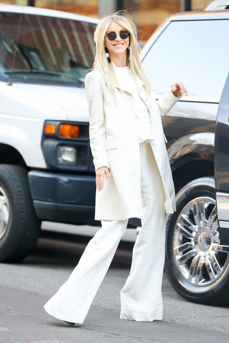 EXCLUSIVE: Julianne Hough dressed in all white in New York City