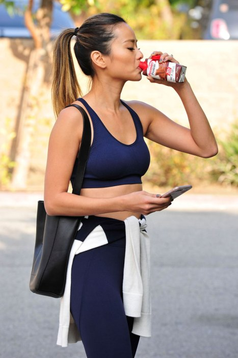 Jamie Chung Refuels with a Premier Protein Chocolate Shake After a Workout