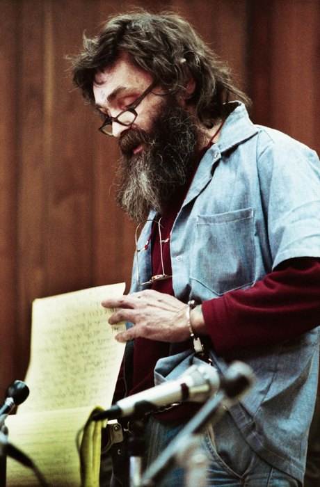 Charles Manson at Parole Hearing