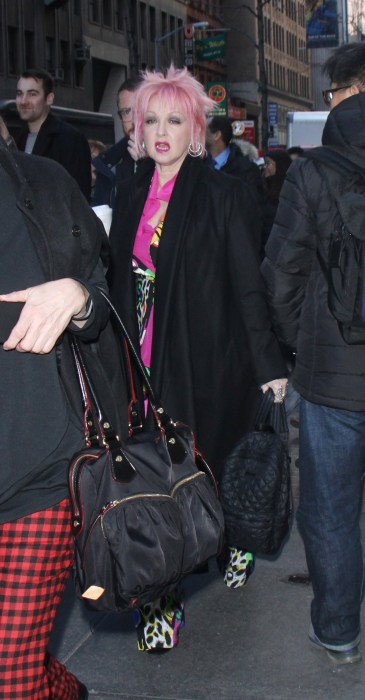 Cyndi Lauper At The 'Today' Show In NYC
