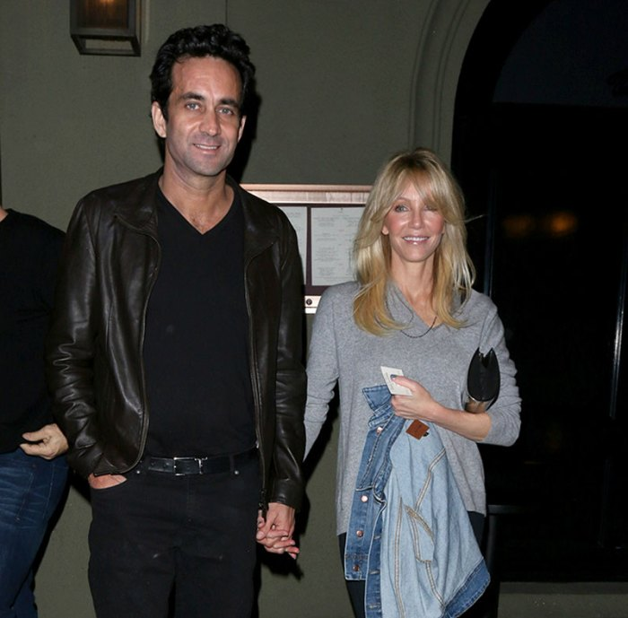 Heather Locklear and Marc Mani pose for photos at Craig's