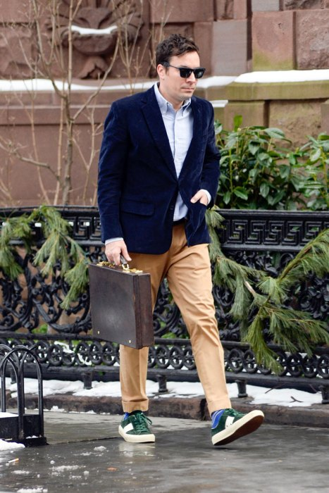 Jimmy Fallon Heads Back To Work In NYC