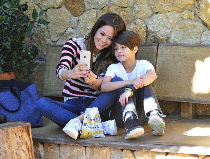 Brooke Burke Having Fun with Son Shaya