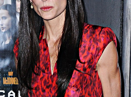 Demi Moore looking gaunt and anorexic