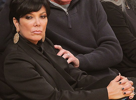 LOS ANGELES, CA - JANUARY 16: Kris Jenner (L) and Bruce Jenner attend a game between the Dallas Mavericks and the Los Angeles Lakers at Staples Center on January 16, 2012 in Los Angeles, California.