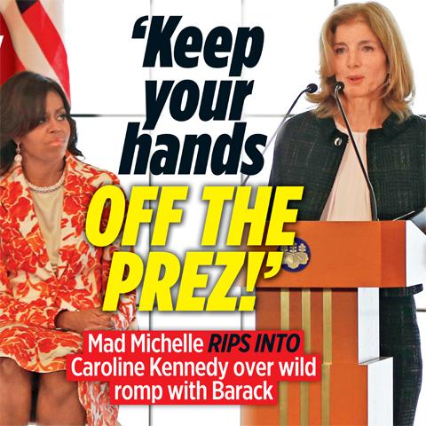 michelle obama warns caroline kennedy keep your hands off