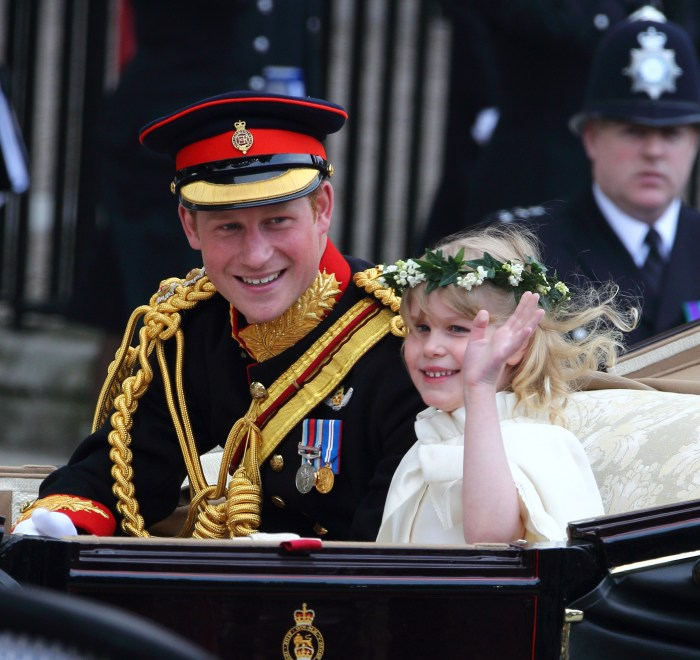 Prince Harry and a flower girl