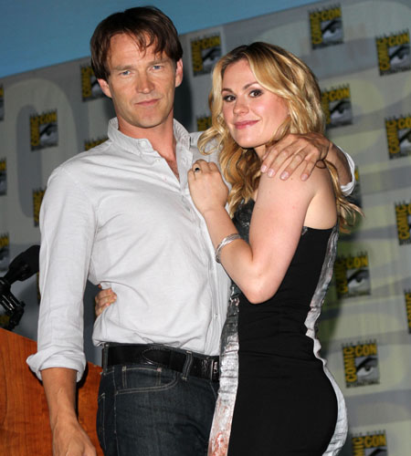 <i>True Blood</i> stars (and real-life couple) Anna Paquin and Stephen Moyer