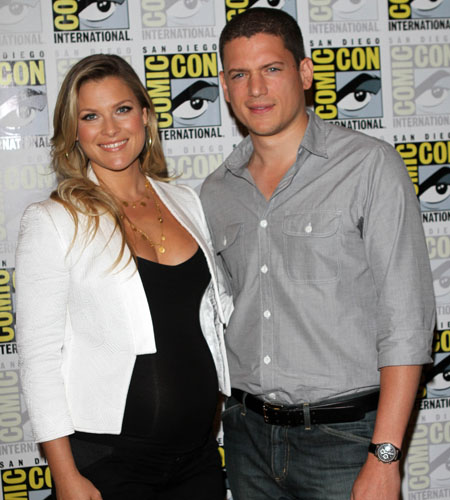 Ali Larter and Wentworth Miller at the <i>Resident Evil: Afterlife</i> press conference